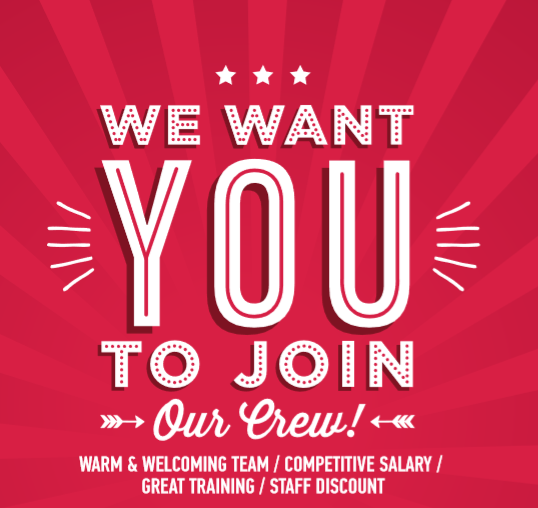 Eddie Rockets are Hiring!