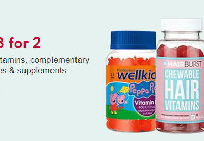 3 for 2   selected vitamins, complementary medicines and supplements