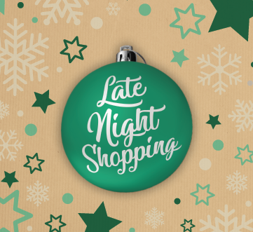 Late Night Shopping from 16th December