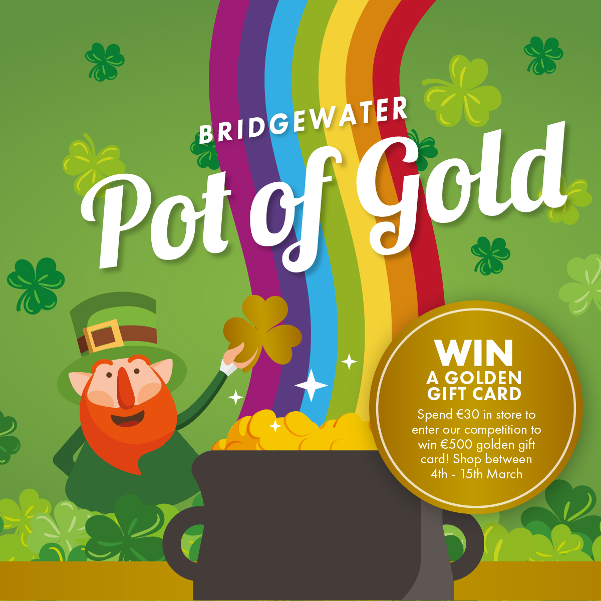 WIN a €500 Bridgewater Shopping Centre Gift Card!