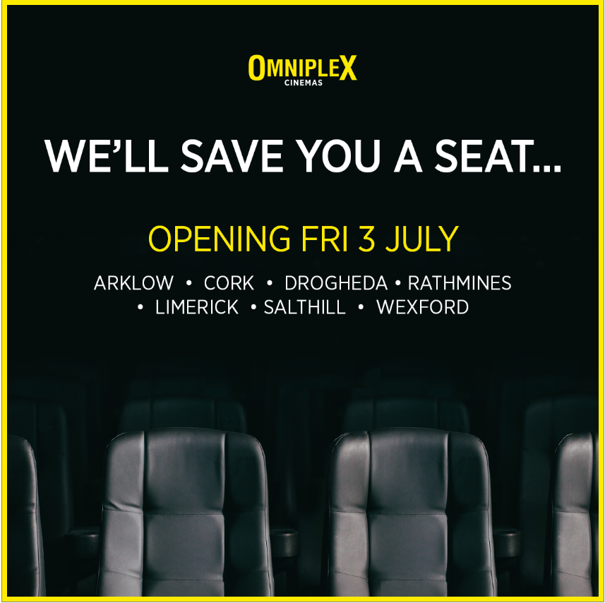 Omniplex Cinema Arklow at Bridgewater Shopping Centre Re-Opens July 3rd 2020!