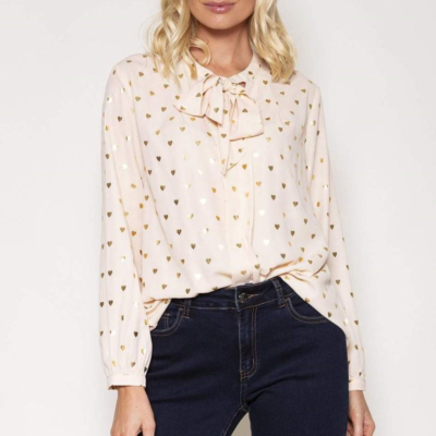 Heart Foil Blouse