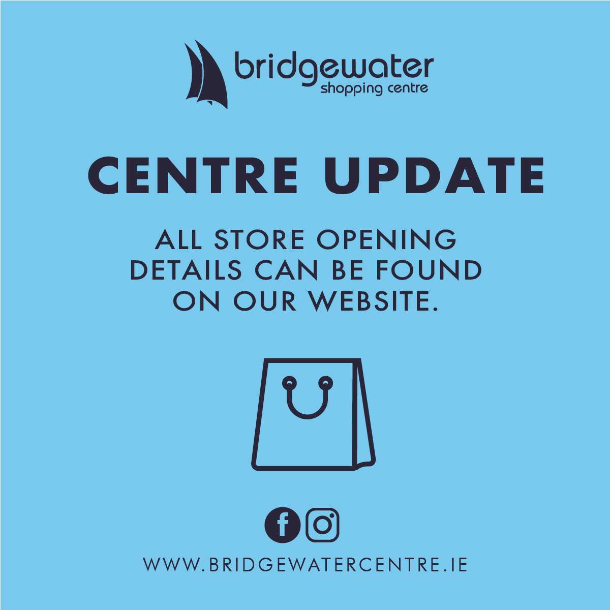 Stores at Bridgewater Shopping Centre are Open!